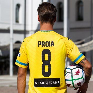 Cittadella seconda maglia gialla 2020-21 retro