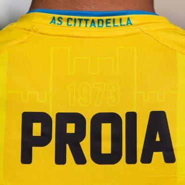 Cittadella seconda maglia gialla 2020-21 colletto Proia