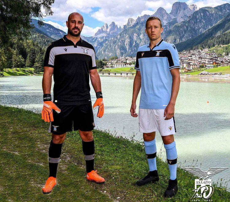 Le nuove maglie della Lazio per la Champions League 2020-21