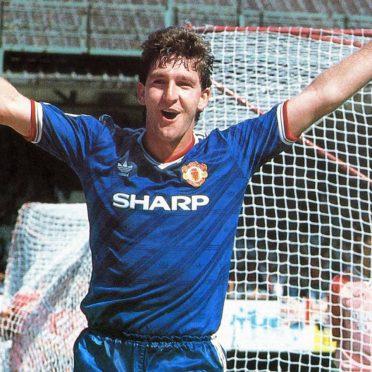 Seconda maglia blu Manchester United 1986-88