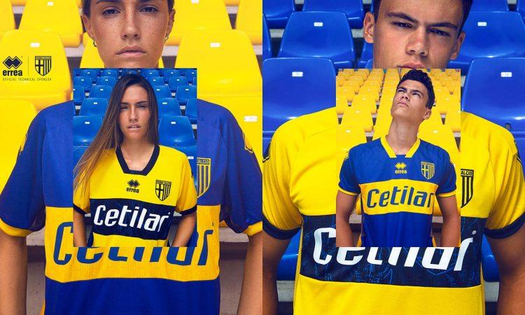 Le maglie del Parma da trasferta 2020-21 gialla e blu