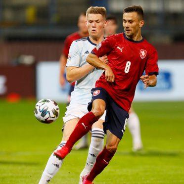 Prima maglia Repubblica Ceca 2020-2021 in campo
