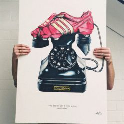 Salvador Dali Football Art Telephone