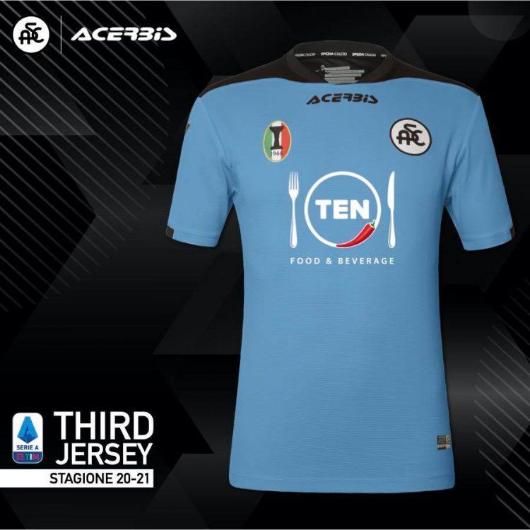 Terza maglia Spezia 2020-2021 celeste