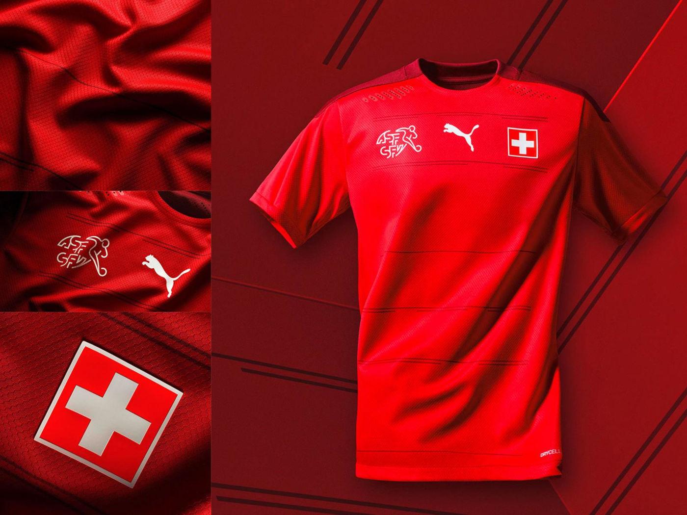 Maglia Svizzera 2020-2021, due toni di rosso per Puma