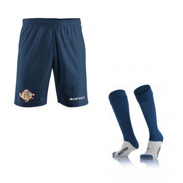 Pantaloncini e calzettoni Cremonese blu