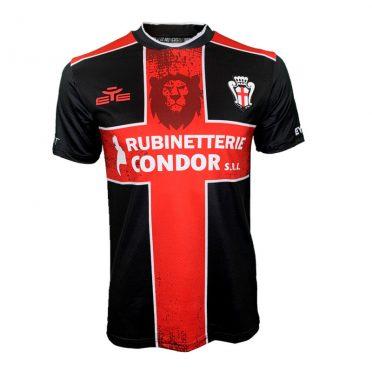 Seconda maglia Pro Vercelli 2020-2021 nera croce rossa