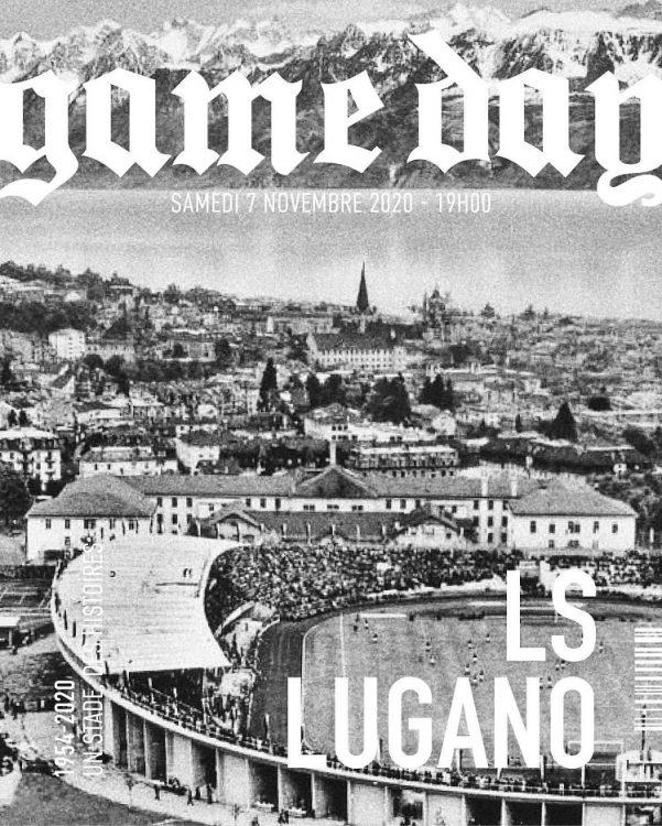 locandina vintage ultima partita alla Pontaise