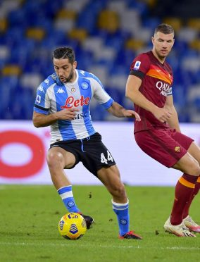 Manolas in Napoli-Roma