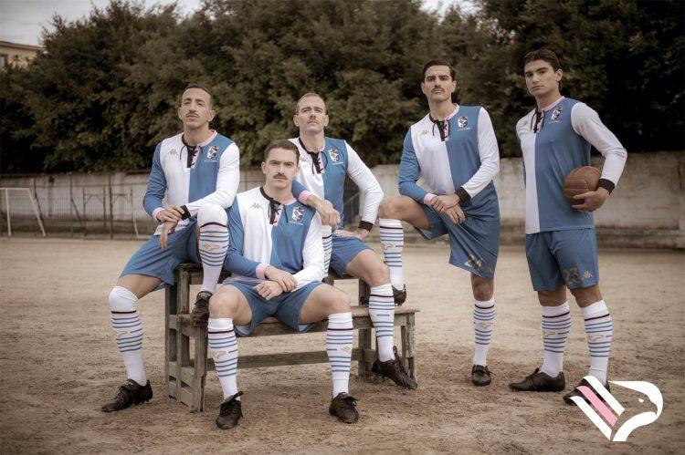 Kit Palermo Calcio 120 anni bianco e blu