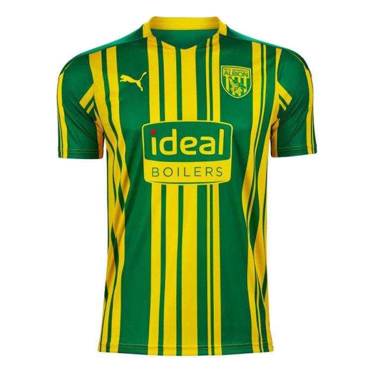 Seconda maglia WBA verde-gialla 2020-21