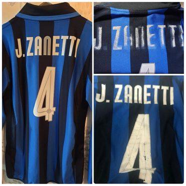 Maglia Inter Zanetti rovinata