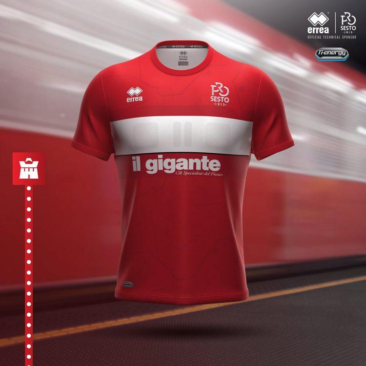 Terza maglia Pro Sesto rossa 2020-21
