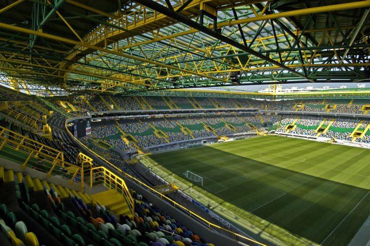 Interno stadio Sporting Lisbona