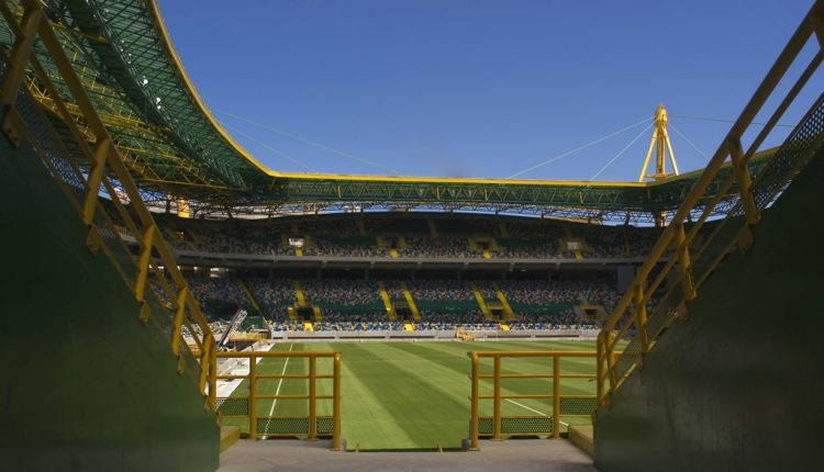 Interno spalti stadio Sporting Lisbona