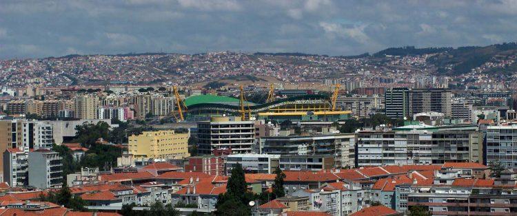 Skyline stadio Lisbona