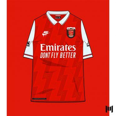 Maglia 90 Arsenal Bergkamp