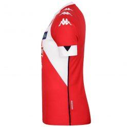 Seconda maglia Bari rossa 2020-2021 lato