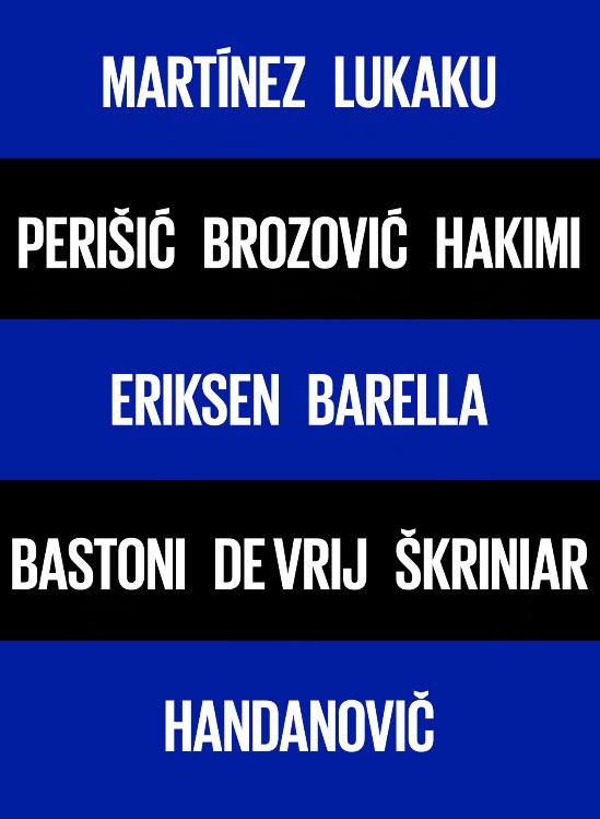 Inter font nuovo logo nomi