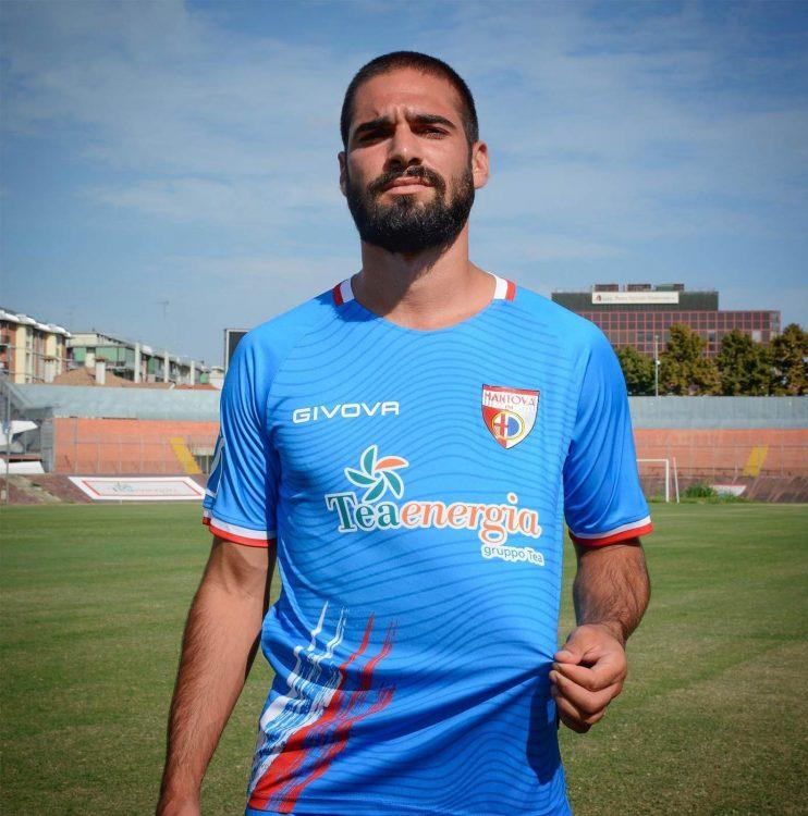 Terza maglia Mantova azzurra 2020-21