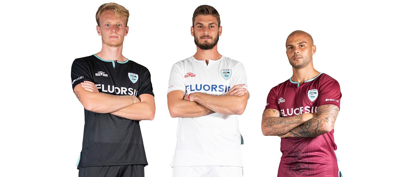 Le maglie dell'Olbia Calcio 2020-2021 Serie C