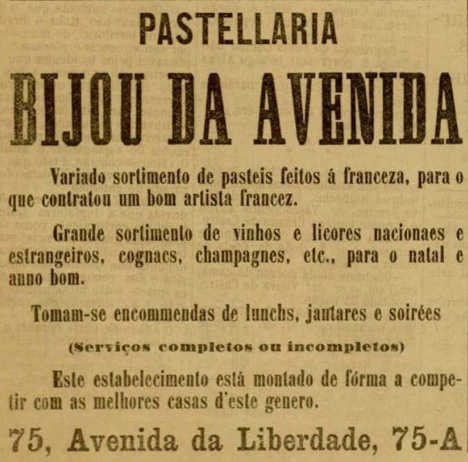 pubblicità della pasticceria Bijou