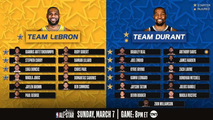 Team LeBron vs Team Durant