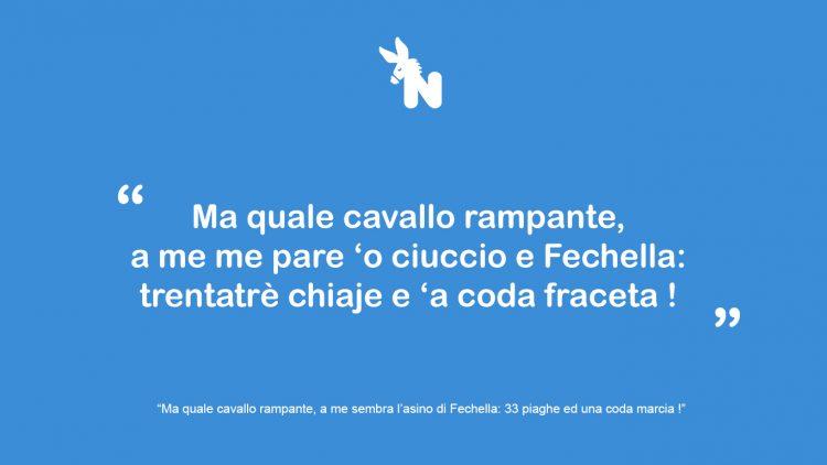 Frase tifoso Napoli Ciuccio