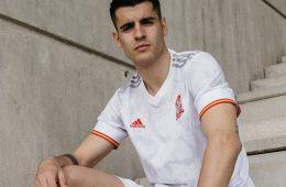 Morata con la seconda maglia della Spagna 2021