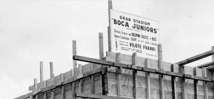 Costruzione stadio Bombonera 1938