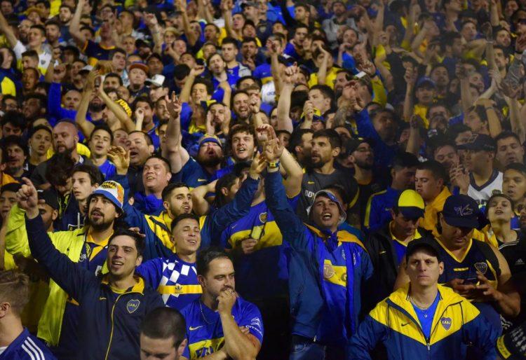 Tifosi Boca allo stadio