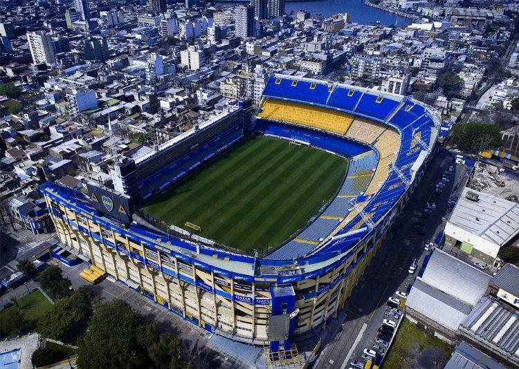 Lo stadio Bombonera visto dall'alto
