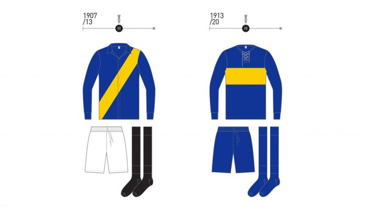Maglie Boca 1907-1913