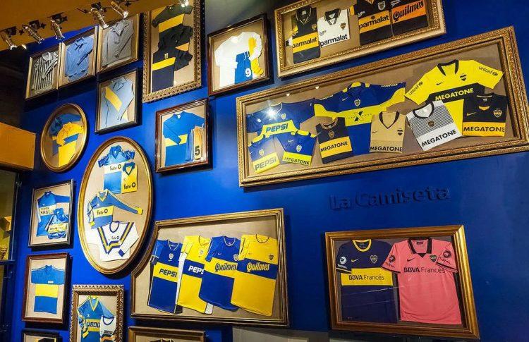 Le maglie del Museo del Boca Juniors