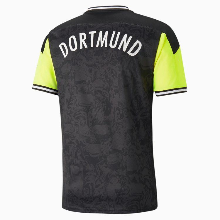 Maglia Borussia Dortmund speciale giallo fluo nero retro