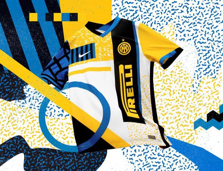 Stile anni '90 per la quarta maglia dell'Inter
