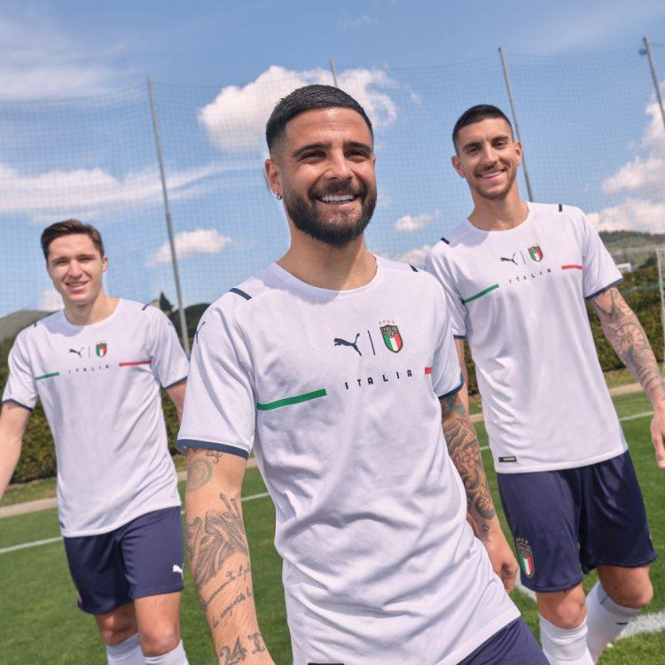Insigne, Chiesa, Pellegrini, Italia kit Euro 2021