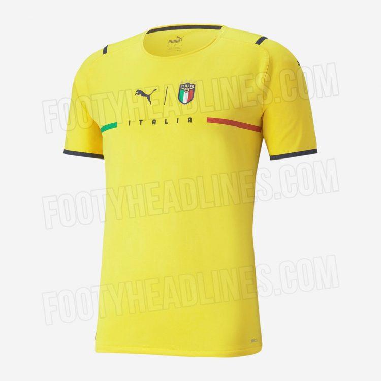 Maglia Italia portiere gialla 2021