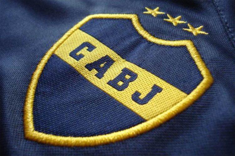 Il logo del Boca sulle maglie dal 2007 al 2009