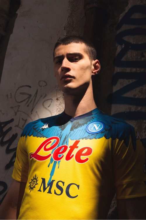 Kit Napoli Marcelo Burlon Kappa giallo