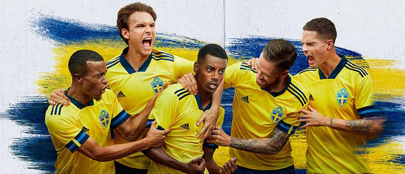 Le maglie della Svezia per Euro 2020