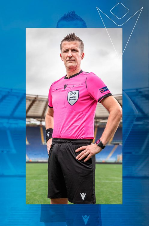 Divisa arbitro Euro 2020 Macron fucsia