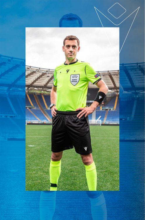 Divisa arbitro Europei 2021 gialla
