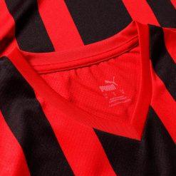 Colletto rosso maglia replica Milan