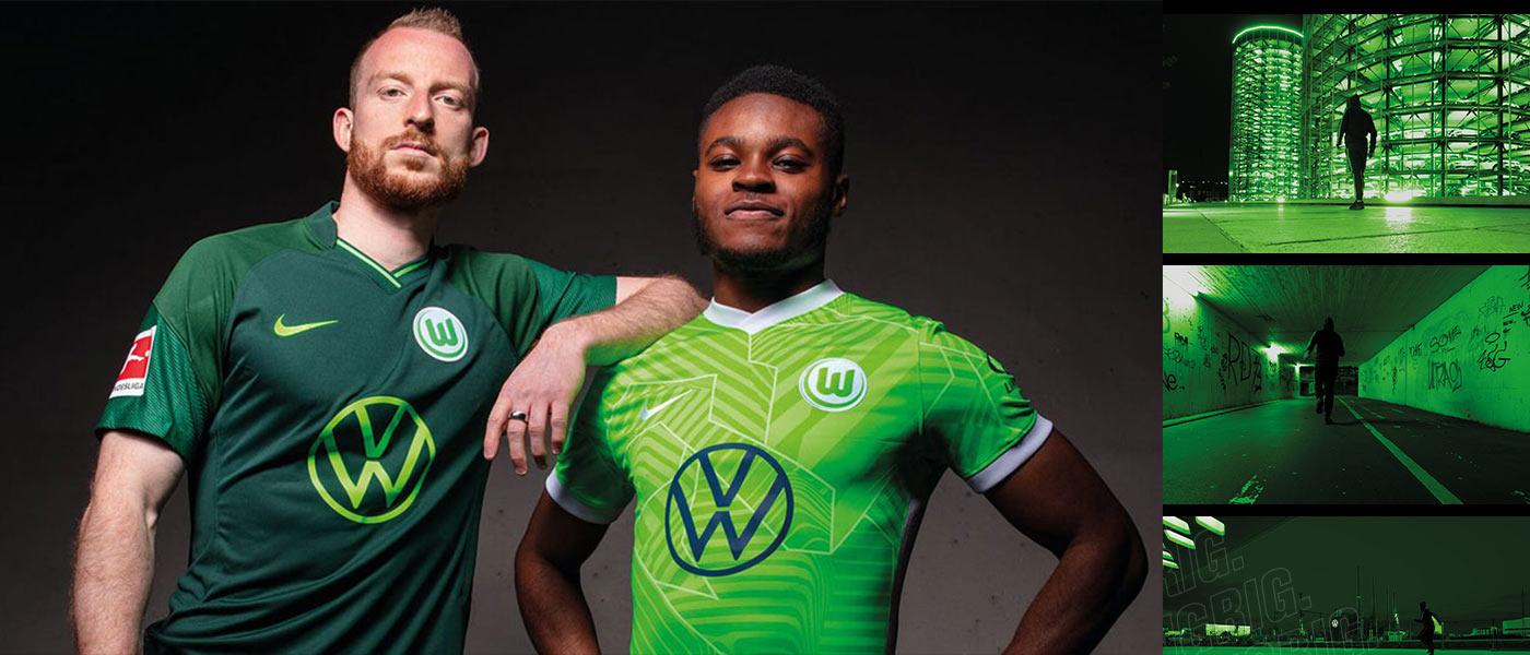 Le nuove maglie del Wolfsburg 2021-2022