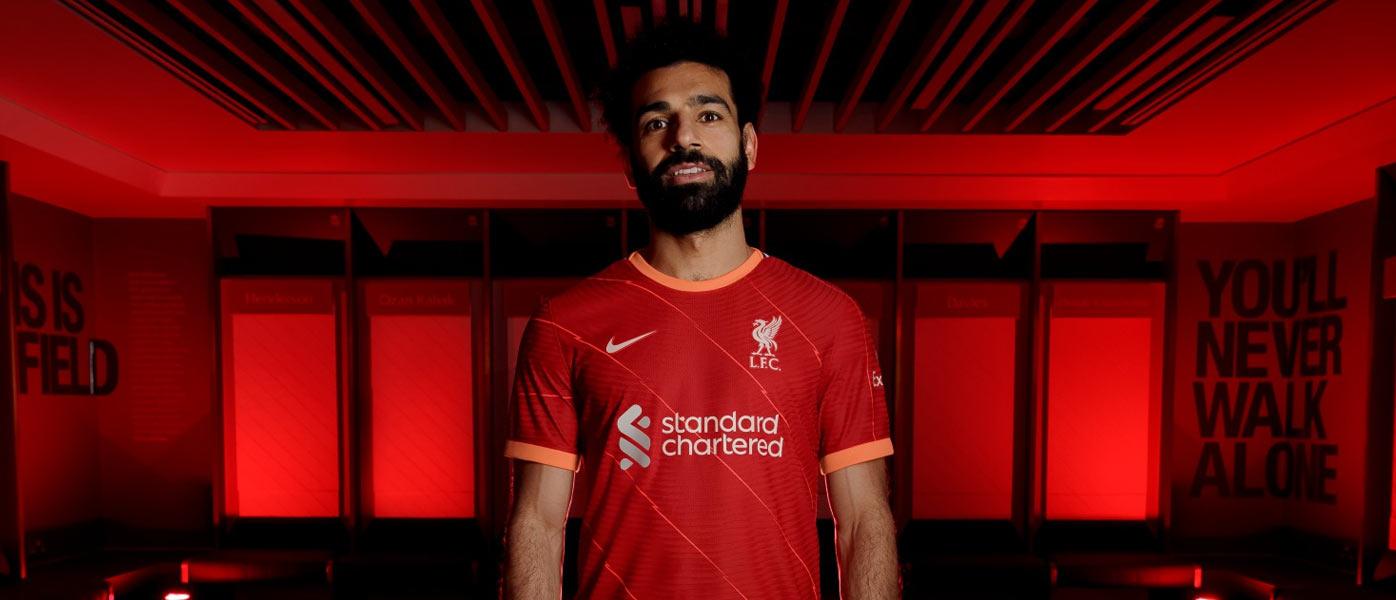 La nuova maglia del Liverpool 2021-2022