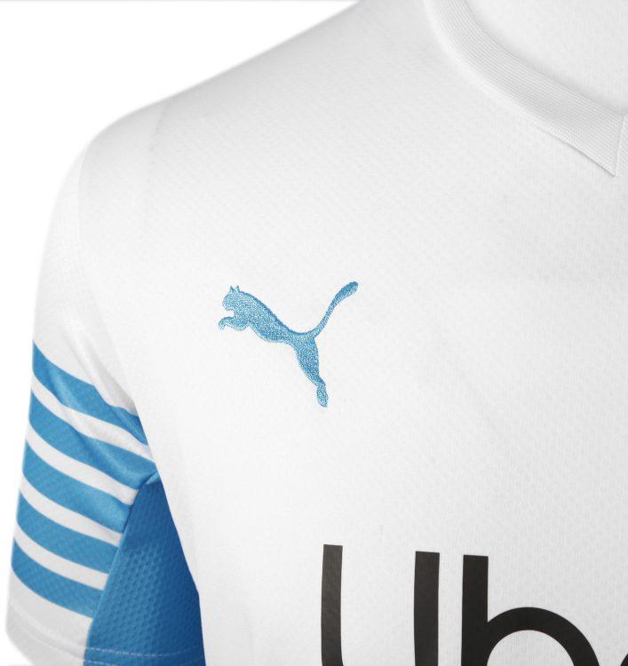 Logo Puma sulla maglia dell'OM 2021
