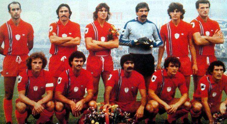 La maglia rossa della Sampdoria nel 1981-82