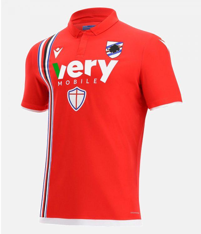 Terza maglia Sampdoria 2021-2022 rossa