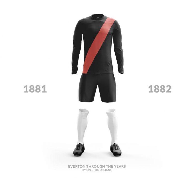Everton Kit 1881-1882